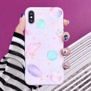 NEW iPhone 7+/8+ Pink Planet Star Soft TPU Case